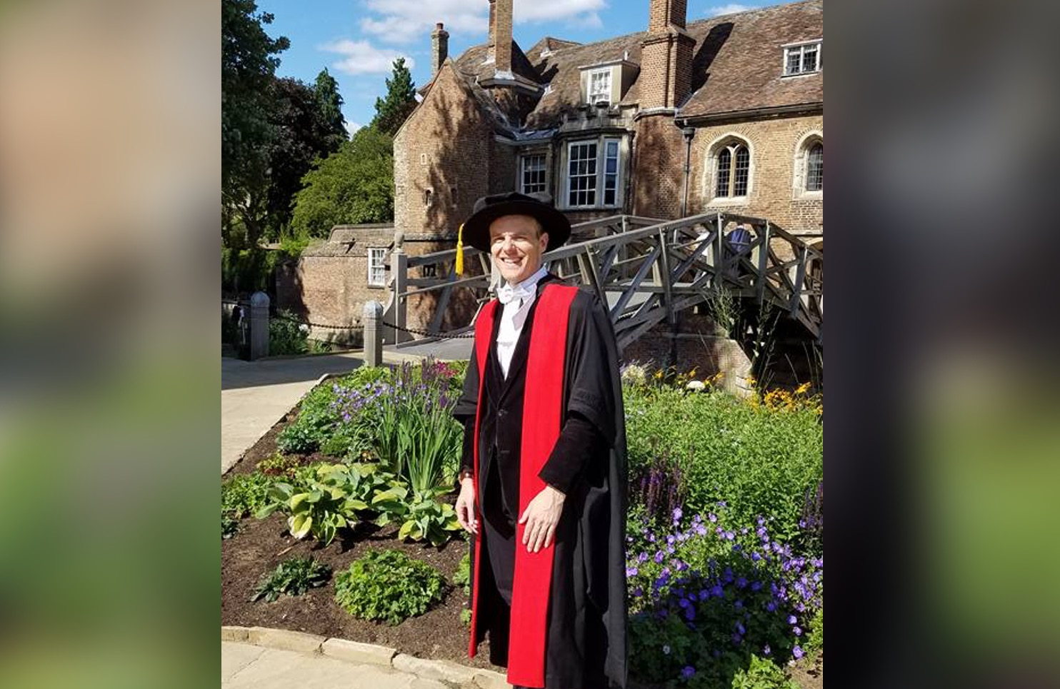 Kester's PhD graduation from the University of Cambridge in 2017